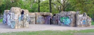Foto Boulderwand im Friedrichshain in Berlin