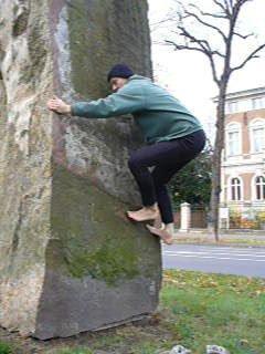 Foto Bouldern in Potsdam Stein an der Hegelalle