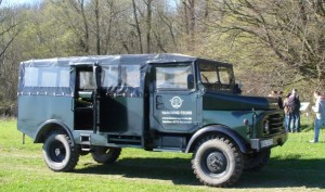 Foto: Mr. S. Management-Teamtraining mit Hanomag Gruppenkraftwagen auf Rügen