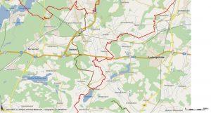 Karte F4 Fernwanderweg